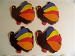 Decorated Turkey Thanksgiving Cookie