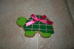 Decorated Turtle Cookie