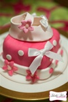 Why send flowers when you can have one of our mini cake's delivered.  These are packaged in clear sturdy pretty gift boxes with a coordinating ribbon bow.  Our mini cakes start at $19.95 and are individually priced based on their complexity, design and si