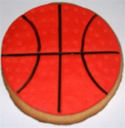 Decorated Basketball Cookies