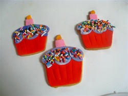 Decorated Cupcake Cookies