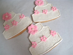 Decorated Large Wedding Cake Cookies