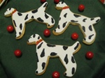 Decorated Dalmation Cookie