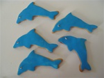 Decorated Dolphin Cookies