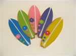 Decorated Surf Board  Cookie Party Favor