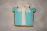Decorated Tiffany Gift Box Cookie