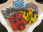 Transformers Decorated Cookies, Bumblebee, Decepticon
