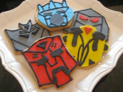Transformers Decorated Cookies Bumblebee Optimus