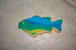Decorated Trout Fish Cookie
