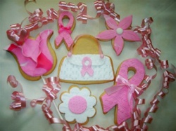 Breast Cancer Awareness Decorated Cookie Gift Box