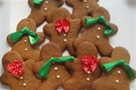 Mini Ginger Bread Men Cookie Holiday Gift Box