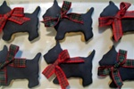 Holiday Scottie Dog Cookie Gift Box
