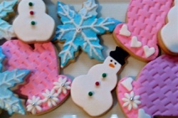 Winter Holiday Decorated Cookie Gift Box